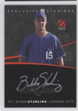 2012 Onyx Platinum Prospects Exclusive Etchings Gold Ink #EE8 - Bubba Starling /55
