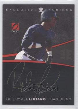 2012 Onyx Platinum Prospects Exclusive Etchings #EE4 - Rymer Liriano