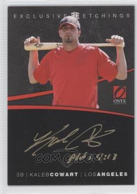 2012 Onyx Platinum Prospects Exclusive Etchings #EE9 - Kaleb Cowart /40