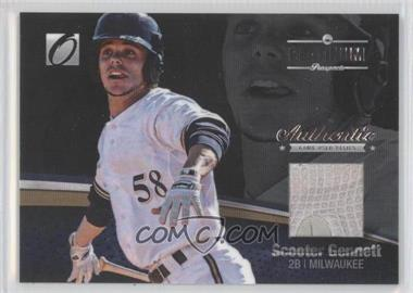 2012 Onyx Platinum Prospects Game-Used Materials #PPGU09 - Scooter Gennett /100
