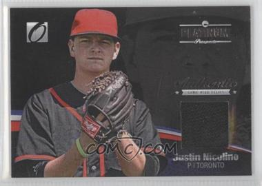 2012 Onyx Platinum Prospects Game-Used Materials #PPGU14 - Justin Nicolino /100