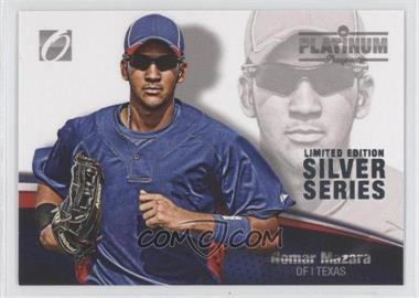 2012 Onyx Platinum Prospects Limited Edition Silver Series #PP28 - Nomar Mazara /100