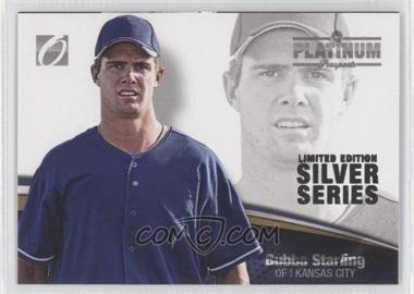 2012 Onyx Platinum Prospects Limited Edition Silver Series #PP42 - Bubba Starling /100