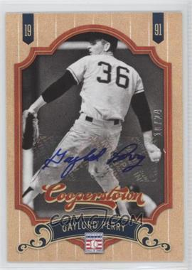 2012 Panini Cooperstown - [Base] - Autographed [Autographed] #61 - Gaylor Perry /24