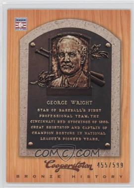 2012 Panini Cooperstown - Bronze History #89 - George Wright /599