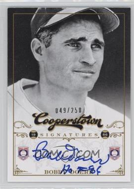 2012 Panini Cooperstown - Cooperstown Signatures #HOF-BD - Bobby Doerr /250