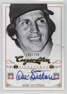 2012 Panini Cooperstown - Cooperstown Signatures #HOF-DSU - Don Sutton /799