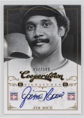 2012 Panini Cooperstown - Cooperstown Signatures #HOF-JIM - Jim Rice /599