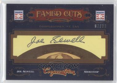 2012 Panini Cooperstown - Fames Cuts Cut Signatures #9 - Joe Sewell /33