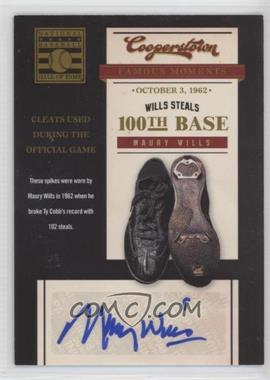 2012 Panini Cooperstown - Famous Moments - Signatures [Autographed] #3 - Maury Wills