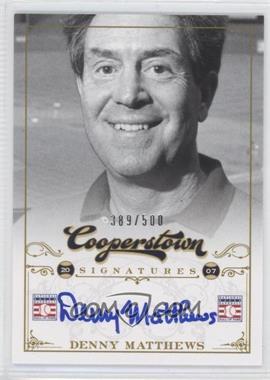 2012 Panini Cooperstown Cooperstown Signatures #FFA-DEN - Denny Matthews /500