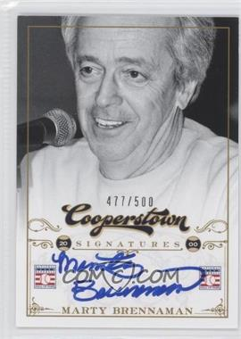 2012 Panini Cooperstown Cooperstown Signatures #FFA-MAR - Marty Brennaman /500