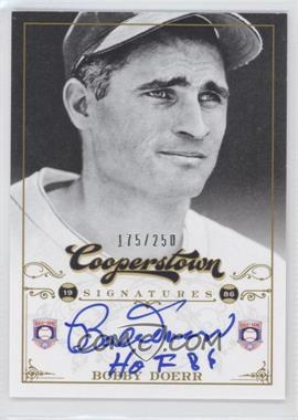 2012 Panini Cooperstown Cooperstown Signatures #HOF-BD - Bobby Doerr /250