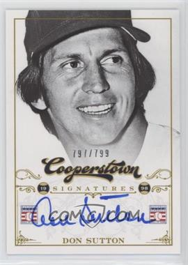 2012 Panini Cooperstown Cooperstown Signatures #HOF-DSU - Don Sutton /799