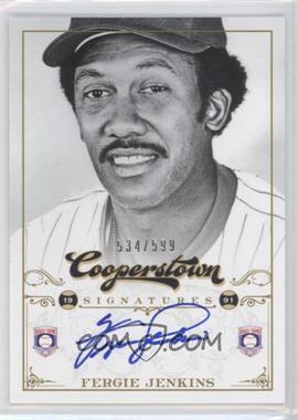 2012 Panini Cooperstown Cooperstown Signatures #HOF-FJ - Fergie Jenkins /599