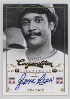 2012 Panini Cooperstown Cooperstown Signatures #HOF-JIM - Jim Rice /599