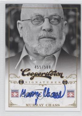 2012 Panini Cooperstown Cooperstown Signatures #HOF-MUR - Murray Chass /500