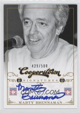 2012 Panini Cooperstown Cooperstown Signatures #HOF-N/A - Marty Brennaman /500