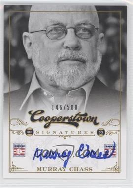 2012 Panini Cooperstown Cooperstown Signatures #JSA-MUR - Murray Chass /500