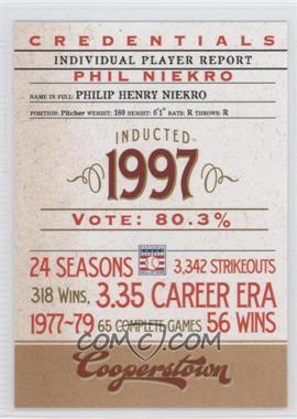 2012 Panini Cooperstown Credentials #13 - Phil Niekro