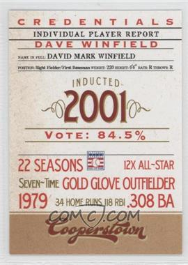 2012 Panini Cooperstown Credentials #8 - Dave Winfield