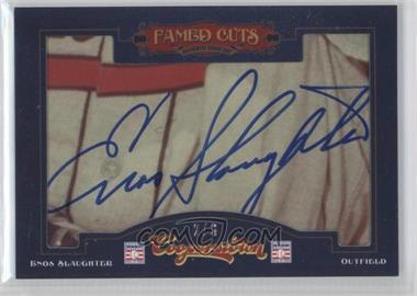 2012 Panini Cooperstown Fames Cuts Cut Signatures #16 - Enos Slaughter /6