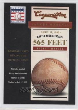 2012 Panini Cooperstown Famous Moments #7 - Mickey Mantle