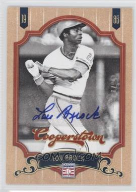 2012 Panini Cooperstown Signatures [Autographed] #142 - Lou Brock /9