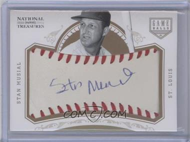 2012 Panini National Treasures Game Ball Signatures #20 - Stan Musial /5