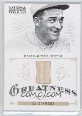 2012 Panini National Treasures Greatness #19 - Al Simmons /99