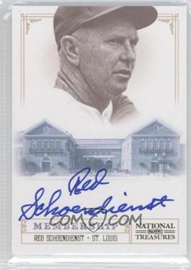 2012 Panini National Treasures Hall of Fame Membership Signatures #15 - Red Schoendienst /25