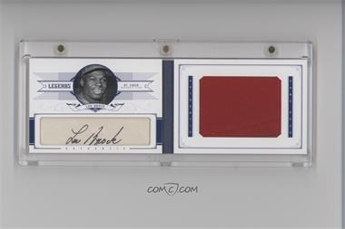 2012 Panini National Treasures Legends Cuts Jumbo Materials Cut Signatures Materials #48 - Lou Brock /5