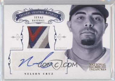 2012 Panini National Treasures Treasure Signature Materials Prime #55 - Nelson Cruz /25