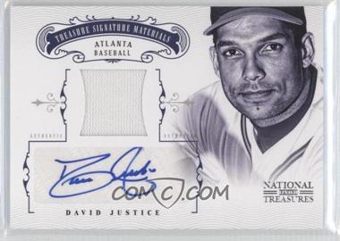 2012 Panini National Treasures Treasure Signature Materials #20 - David Justice /25