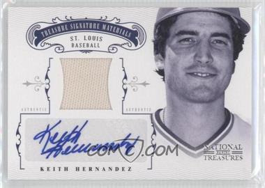 2012 Panini National Treasures Treasure Signature Materials #45 - Keith Hernandez /49