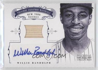 2012 Panini National Treasures Treasure Signature Materials #71 - Willie Randolph /25
