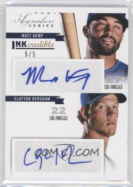 2012 Panini Signature Series Inkcredible Combos #2 - Clayton Kershaw, Matt Kemp /5