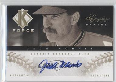 2012 Panini Signature Series K Force Platinum Proof #15 - Jack Morris /25