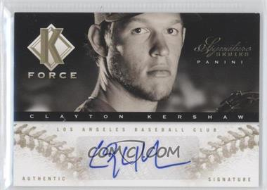 2012 Panini Signature Series K Force Platinum Proof #20 - Clayton Kershaw /25
