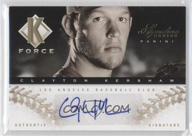 2012 Panini Signature Series K Force Platinum Proof #20 - Clayton Kershaw /25