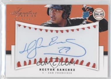 2012 Panini Signature Series Rated Rookie Signatures Game Ball #119 - Hector Sanchez /299
