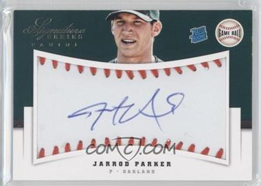 2012 Panini Signature Series Rated Rookie Signatures Game Ball #120 - Jarrod Parker /299