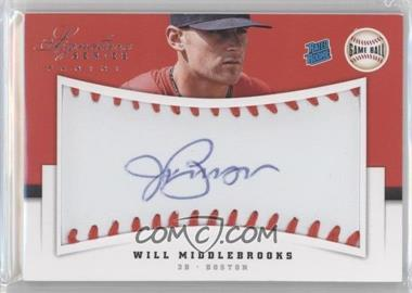 2012 Panini Signature Series Rated Rookie Signatures Game Ball #128 - Will Middlebrooks /299