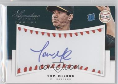 2012 Panini Signature Series Rated Rookie Signatures Game Ball #144 - Tom Milone /299