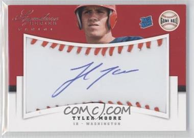 2012 Panini Signature Series Rated Rookie Signatures Game Ball #145 - Tyler Moore /299