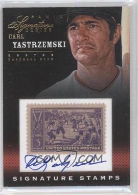 2012 Panini Signature Series Signature Stamps #5 - Carl Yastrzemski /25