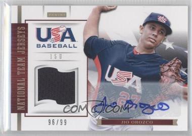 2012 Panini USA Baseball National Team - 15U National Team Jerseys - Signatures [Autographed] #15 - Jio Orozco /99