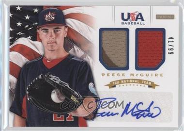 2012 Panini USA Baseball National Team - 18U National Team Dual Jerseys - Signatures [Autographed] #12 - Reese McGuire /99