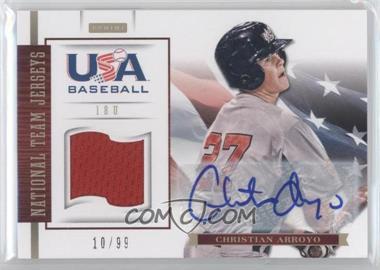 2012 Panini USA Baseball National Team - 18U National Team Jerseys - Signatures [Autographed] #2 - Christian Arroyo /99