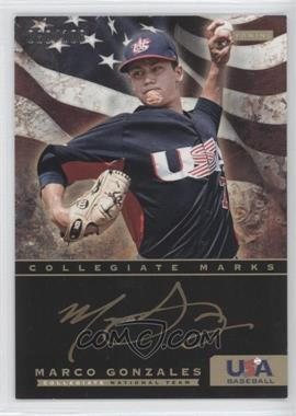 2012 Panini USA Baseball National Team - Collegiate National Team Collegiate Marks #10 - Marco Gonzales /100